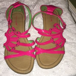 Hot Pink Patent American Eagle Sandals